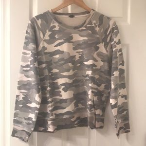 JCREW camo sweatshirt